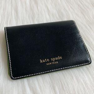NEW Kate Spade Fold Over Card Holder Black Wallet